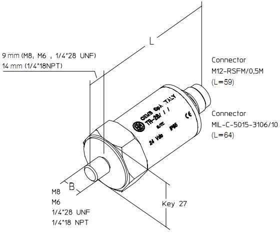 Cảm biến đo độ rung TR-26 Cemb