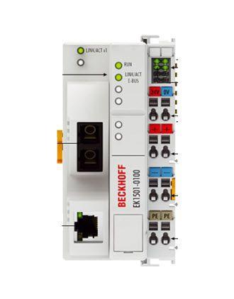 EK1501-0100 Beckhoff | EtherCAT Coupler, media converter